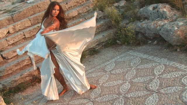 dance at the ancient ruins - classical greek stock videos & royalty-free footage