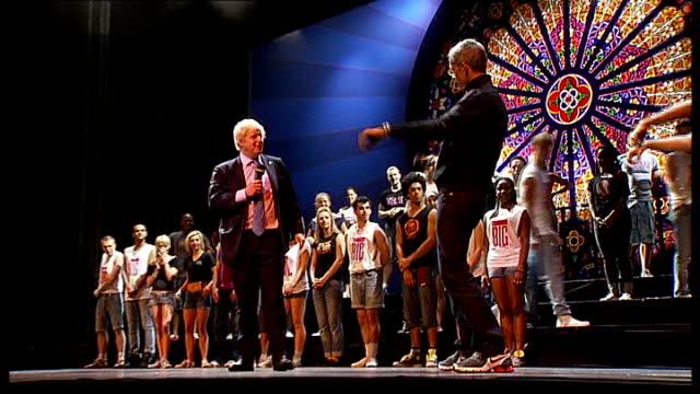 stockvideo's en b-roll-footage met big dance 2010 event launched johnson on stage at the london palladium - london palladium