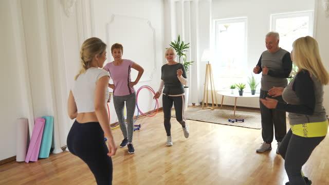dance class for seniors - dance studio stock videos & royalty-free footage