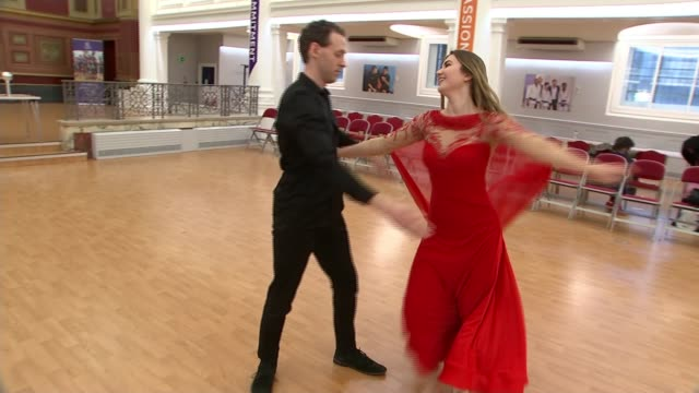 'dance of westminster' competition showcases dancers with disabilities; england: london: greenhouse centre: int various shots of alex henderson and... - single rose stock videos & royalty-free footage