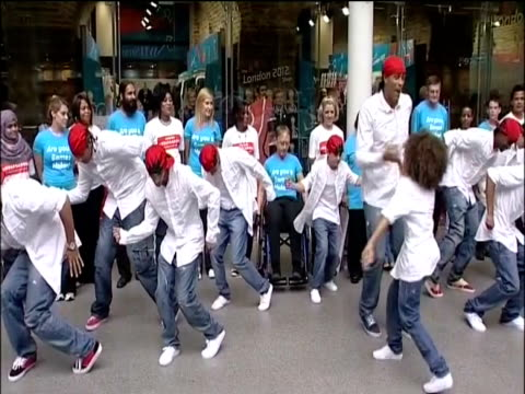 dance group diversity at photocall to promote london 2012 olympic games - britain's got talent stock-videos und b-roll-filmmaterial
