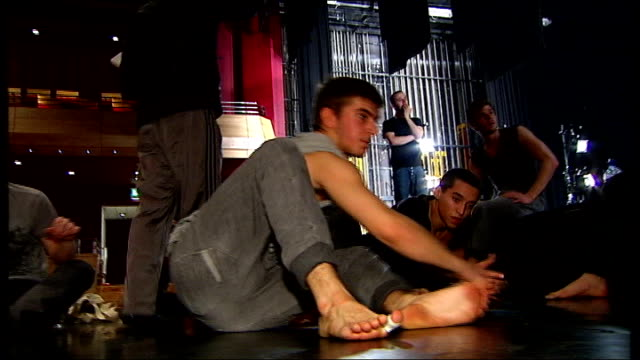 next generation of the 'balletboyz' prepare for tour michael nunn giving instructions to ballet dancers on stage michael nunn and william trevitt... - will.i.am stock videos and b-roll footage