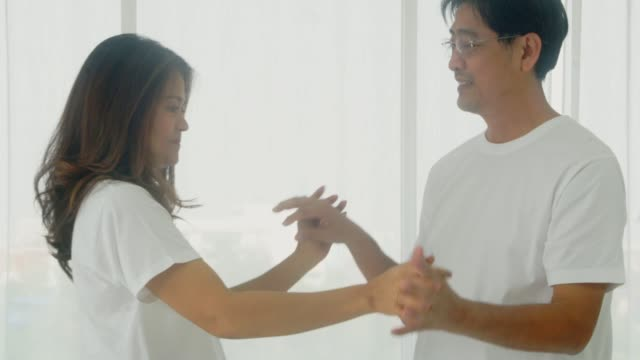 dance slowly with happiness. - ballroom dancing stock videos & royalty-free footage