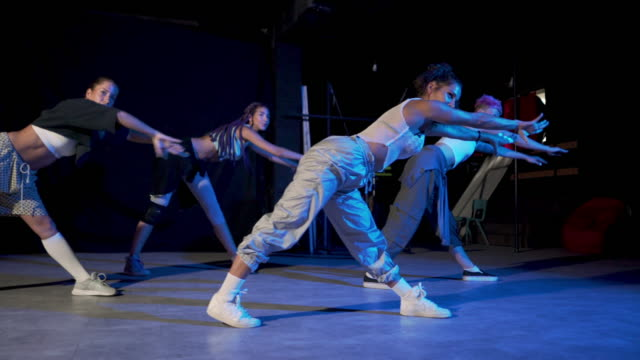 dance troupe warming up - modern dancing stock videos & royalty-free footage
