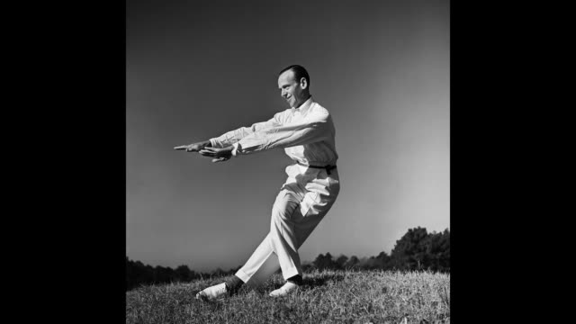 dancer, actor and singer fred astaire performs for the camera during a photo session circa 1940 in los angeles, california. - 1899 stock videos & royalty-free footage