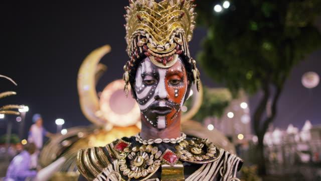 cu a dancer at rio carnival / rio de janeiro, brazil - public celebratory event stock videos & royalty-free footage