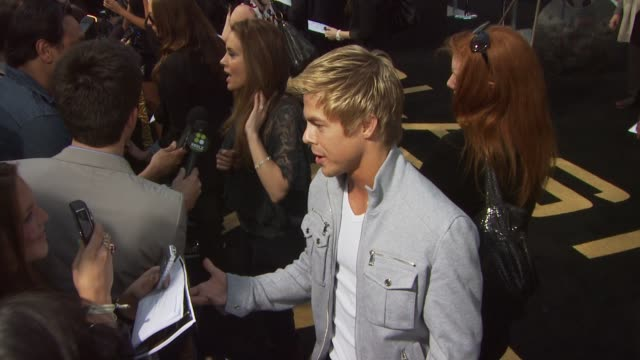 dancer derek hough at the 'clash of the titans' premiere at hollywood ca - clash of the titans stock videos & royalty-free footage