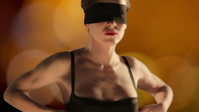dancer in the dark - blindfold stock videos & royalty-free footage