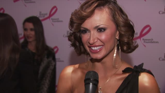 dancer karina smirnoff happy to be out to support the cause thinks research is really important for the fight against breast cancer thinks the... - karina smirnoff stock videos & royalty-free footage
