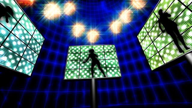 vídeos y material grabado en eventos de stock de pantallas (hd1080) bailarín - pantalla de proyección