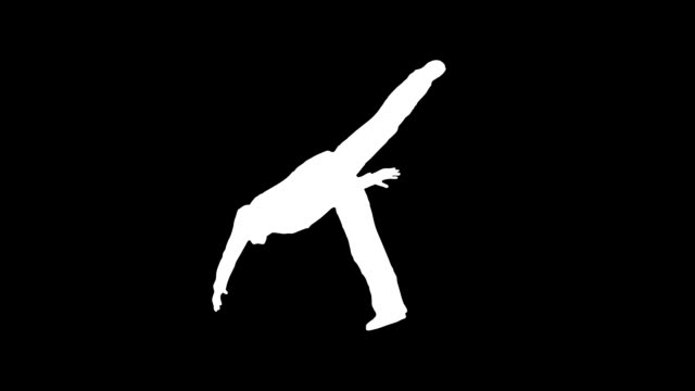 dancer silhouette - outline stock videos & royalty-free footage