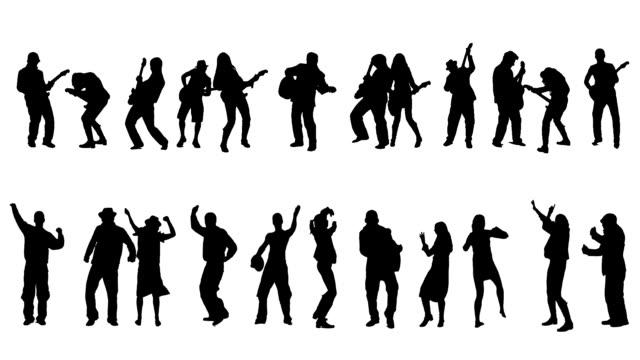 dancers and guitar players - in silhouette stock videos & royalty-free footage