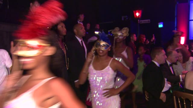 Dancers at the The Alfred Mann Foundation's Annual BlackTie Gala at Santa Monica CA