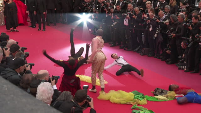 GIF Dancers attend 'The Best Years of a Life ' Red Carpet Arrivals during the 72nd annual Cannes Film Festival on May 18 2019 in Cannes France