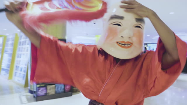 dancers celebrating chinese new year - imperial lion stock videos and b-roll footage