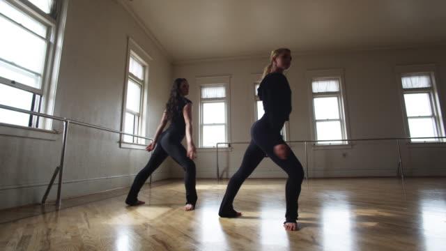 dancers in a dance studio - springville utah stock videos & royalty-free footage