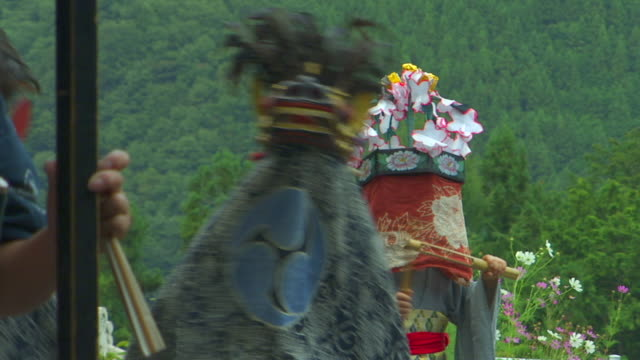 ms dancers in dragon headdress at autumn festival, japan - headdress stock videos & royalty-free footage