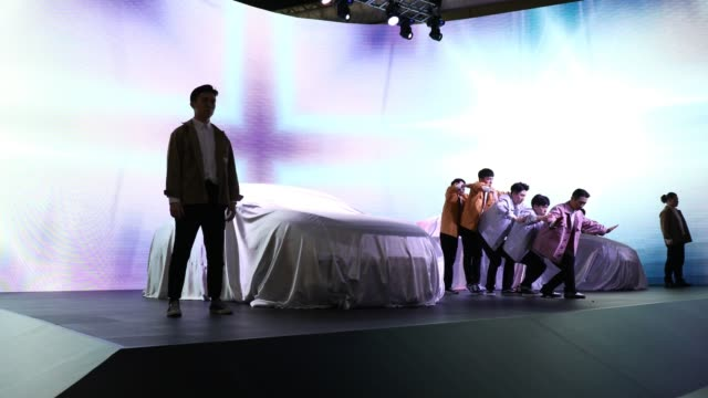 dancers perform at the seoul motor show 2019 at kintex on march 28 2019 in goyang south korea the seoul motor show 2019 will be held in march 29 to... - goyang stock videos and b-roll footage