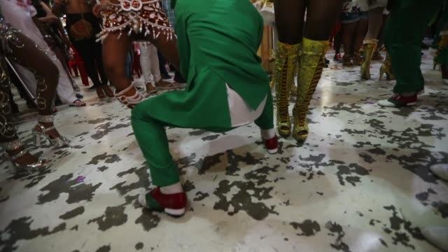 dancers perform during a traditional festas juninas party at the salgueiro samba school on june 18 2017 in rio de janeiro brazil rio mayor marcelo... - samba school stock videos and b-roll footage