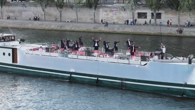 "FRA: ""Balmain Sur Seine"" Performance In Paris"