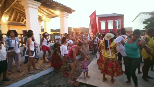 pan dancers perform during the festival of the good death on august 15 2014 in cachoeira brazil the afrobrazilian festival put on by the sisterhood... - cachoeira stock videos and b-roll footage