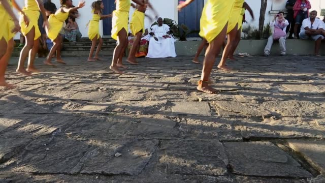 cu dancers perform during the festival of the good death on august 15 2014 in cachoeira brazil the afrobrazilian festival put on by the sisterhood of... - cachoeira stock videos and b-roll footage
