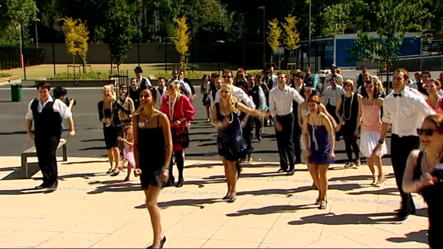 dancers set new world record for largest ever performance of the charleston england london pimlico academy ext group of dancers dancing the... - world record stock videos & royalty-free footage