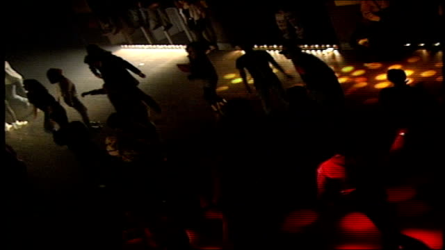 stockvideo's en b-roll-footage met dancing and dj at the palladium nightclub in 1992 new york city - 1992