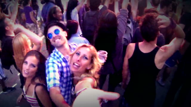 Dancing at concert.