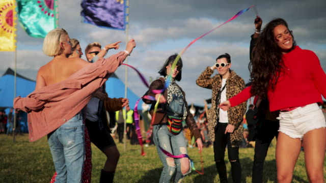 dancing at festival - music festival stock videos & royalty-free footage