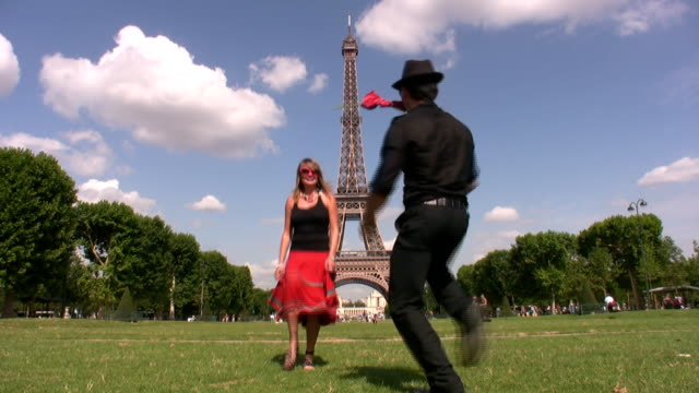 Dancing at the Eiffel Tower