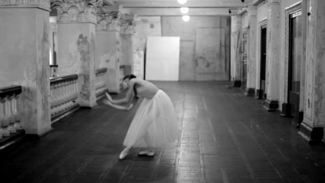 dancing ballerina - ballet shoe stock videos and b-roll footage