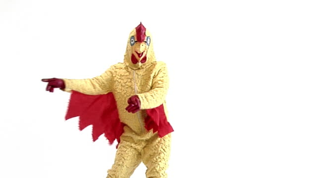 dancing chicken - mascot stock videos & royalty-free footage