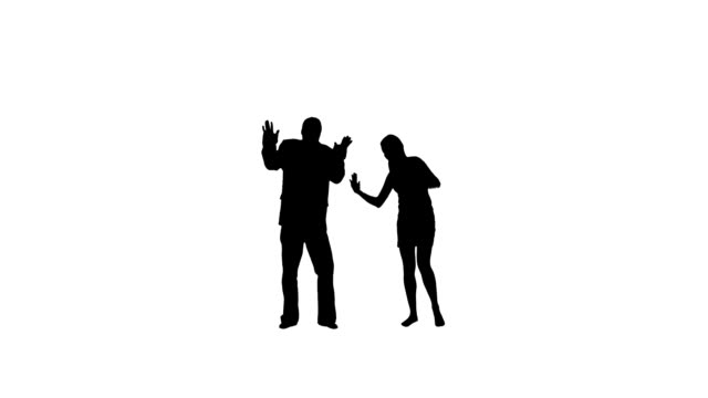 dancing couple - in silhouette stock videos & royalty-free footage
