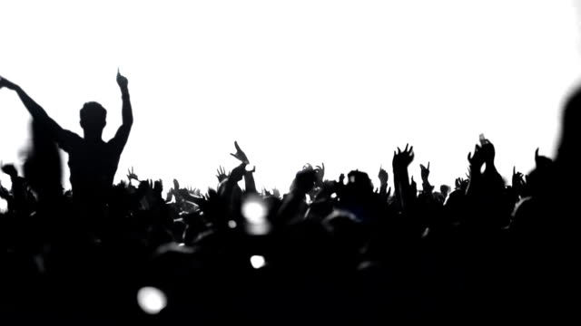 dancing crowd - back lit stock videos & royalty-free footage