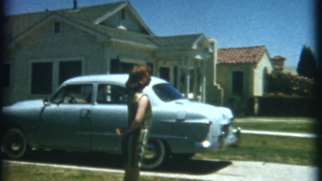 dancing front yard 1952 - collector's car stock videos and b-roll footage