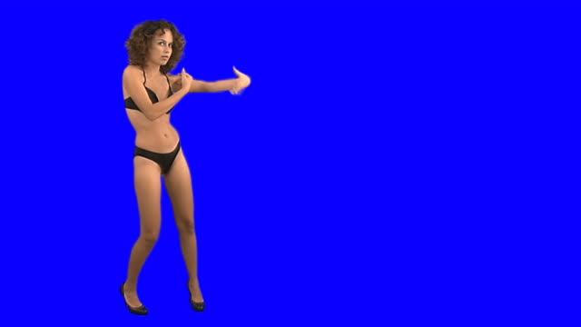 dancing girl on chroma key - showgirl stock videos and b-roll footage