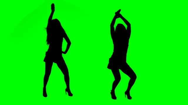 danza ragazze - controluce video stock e b–roll