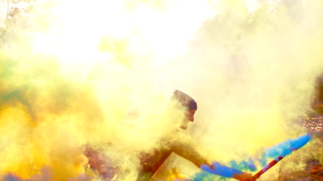 dancing in colored smoke - explosive stock videos & royalty-free footage