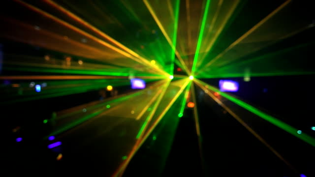 hd dancing in the disco laser lights - techno music stock videos & royalty-free footage
