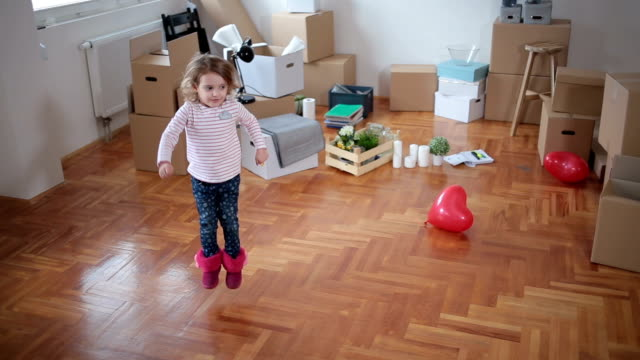 dancing in the new flat - carton stock videos & royalty-free footage