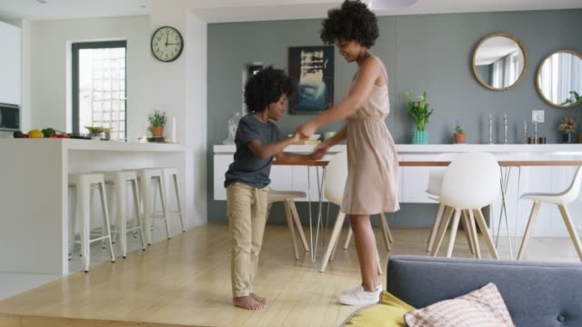 dancing is in his blood - domestic room stock videos & royalty-free footage