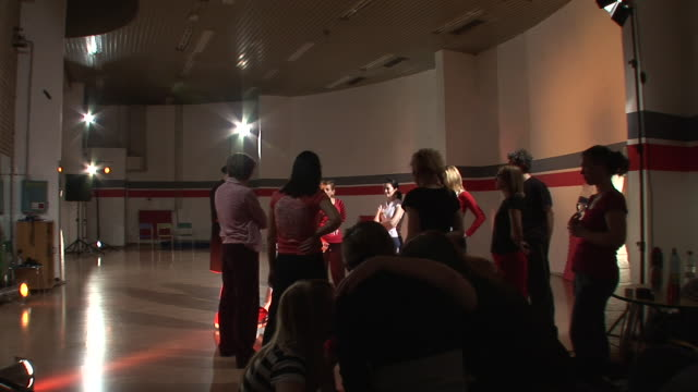 hd: dancing lessons - dance studio stock videos and b-roll footage