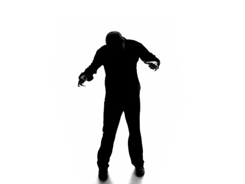 Dancing male silhouette