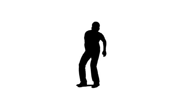vídeos de stock, filmes e b-roll de hd: dancing homem - manipulação digital