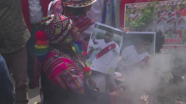 dancing on a photo of the new zealand team with a live snake peruvian shamans perform a ritual tuesday outside of the national stadium in lima aiming... - team photo stock videos & royalty-free footage