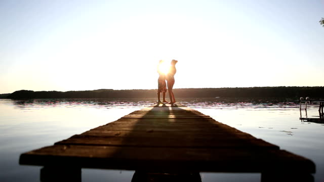 dancing on a pier - hot passionate kissing stock videos & royalty-free footage