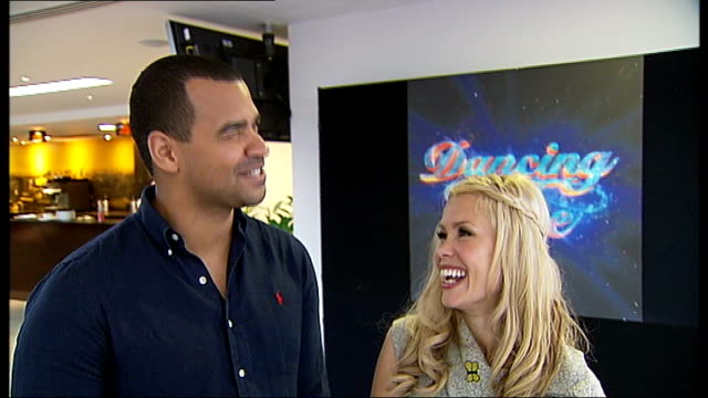 'dancing on ice' television programme returns to itv; michael underwood interview sot melinda messenger interview sot - michael underwood stock videos & royalty-free footage