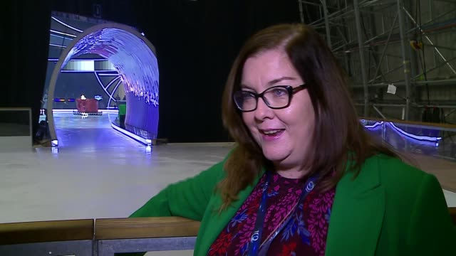 'dancing on ice' to return villagers talk of having hit tv show on their doorstep england hertfordshire bovingdon int clodagh o'donoghue interview... - ice rink stock videos & royalty-free footage