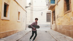 Dancing on the street.